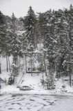 La Finlande - nature en hiver Photos libres de droits