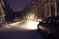 La Finlandia: Guidando in inverno Fotografia Stock
