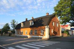La Finlandia, Kuopio: Vecchia Camera di legno (1780) Fotografie Stock Libere da Diritti