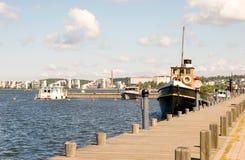 La Finlandia. Lago Lahti.Vesijärvi immagini stock libere da diritti