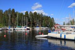 La Finlandia, Savonia/Kuopio - porticciolo della barca a vela fotografia stock