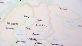 La Finlandia su una mappa