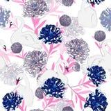 La fioritura oreintal morbida e delicata pastello dolce fiorisce con la mano illustrazione di stock