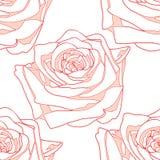 La fioritura senza cuciture del modello è aumentato Fotografia Stock Libera da Diritti
