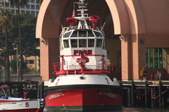 LA Fireboat Stock Photo