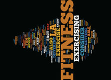 La Fitness Text Background Word Cloud Concept Royalty Free Stock Image