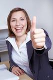 La fixation de femme d'affaires manie maladroitement vers le haut Photos stock