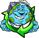 La fixation heureuse de la terre de planète réutilisent le symbole illustration de vecteur