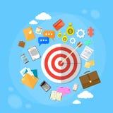 La flèche de cible obtiennent le marketing de Web de concept de but Image libre de droits