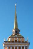 La flèche de l'Amirauté principal à St Petersburg Photos stock