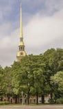 La flèche de Peter et de Paul Cathedral à St Petersburg Image libre de droits