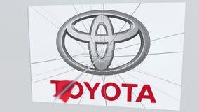 La flèche de tir à l'arc frappe le plat avec le logo de TOYOTA Animation éditoriale conceptuelle de problèmes d'entreprise banque de vidéos