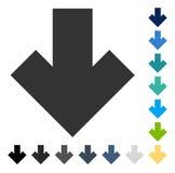 La flèche dirigent vers le bas l'icône Photo stock