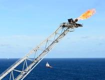 La flama del gas fotografía de archivo libre de regalías