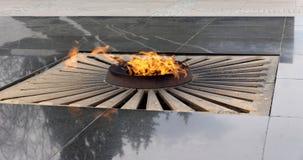 La flamme éternelle dans le Nijni-Novgorod Kremlin Russie Photo stock
