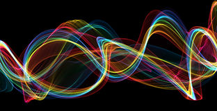 La flamme colorée ondule le fond abstrait Image stock