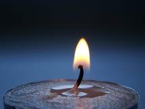 La flamme de bougies Photos stock