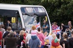 La flamme olympique atteint Basingstoke Image stock