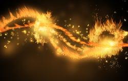 La flamme raye le fond illustration libre de droits