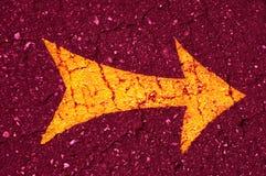 La flecha anaranjada Imagen de archivo