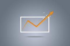 La flecha crece, representando crecimiento del negocio Foto de archivo libre de regalías