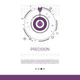 La flecha de la blanco de la precisión consigue la bandera del web del negocio del objetivo con el espacio de la copia stock de ilustración