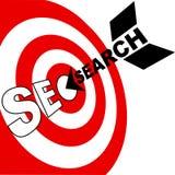 La flecha de la optimización del Search Engine golpea la blanco de SEO libre illustration