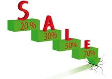 La flecha expresa qué precio el la caída 2 Imagen de archivo libre de regalías