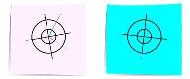 La flecha golpea la primera blanco ilustración del vector