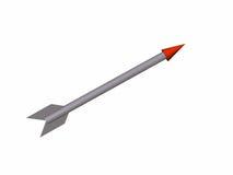 La flecha gris Imágenes de archivo libres de regalías