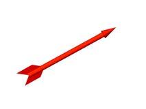 La flecha roja Imágenes de archivo libres de regalías
