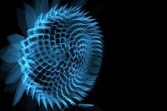 La fleur 3D a rendu le rayon X bleu Images stock