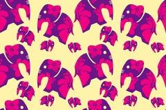 La fleur aux éléphants et à l'arrière-plan Conception de vecteur Images libres de droits