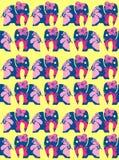 La fleur aux éléphants et à l'arrière-plan Conception de vecteur Photo libre de droits