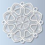 La fleur décorative, mandala, a gravé le modèle en refief, modèle de dentelle Illustration Stock