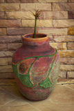 La fleur dans le pot Image stock