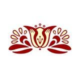 La fleur dans le style d'ethno Image stock