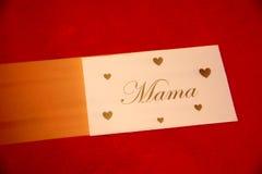 la fleur de jour donne à des mères le fils de momie à Photographie stock libre de droits