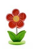 La fleur en bois rouge de tige a formé par un ressort Images stock