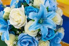 La fleur en plastique colorée Photo libre de droits