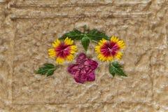 La fleur handcraft le détail de décoration d'artisan images stock