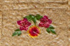 La fleur handcraft le détail de décoration d'artisan image libre de droits