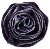 La fleur noire de tissu s'est levée Photo stock