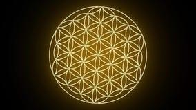 La flor de la vida que forma símbolo sagrado de la geometría libre illustration