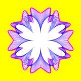 La flor de neón fantástica, forma abstracta con las porciones de mezcla alinea Imágenes de archivo libres de regalías