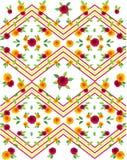 La flor del modelo de los vestidos con colores rayó el estampado de flores para la camiseta Foto de archivo libre de regalías