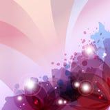 La flor en tinta colorida salpicó el fondo rosado Fotografía de archivo