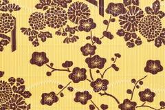 La flor japonesa pattren el fondo Foto de archivo libre de regalías