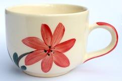 La flor que dibuja el vidrio de cerámica Imágenes de archivo libres de regalías