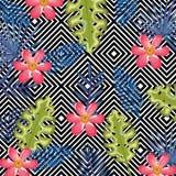 La flor tropical con el equipo de escritorio abstracto del fondo aisló el icono foto de archivo